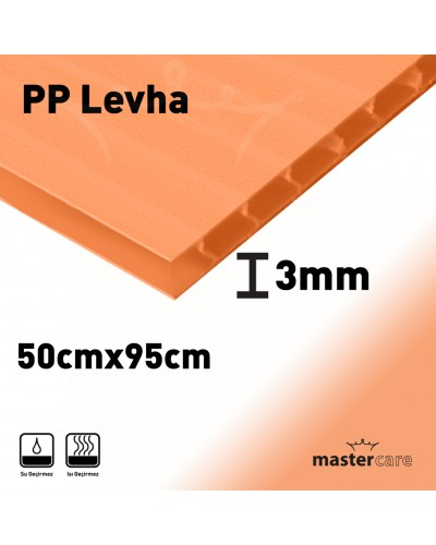 Mastercare PP Plaka Çok Amaçlı Kullanım 3mm 50cmX95cm